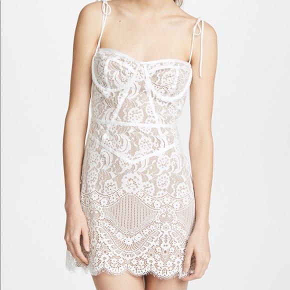 For Love And Lemons Tati Lace Corset Dress